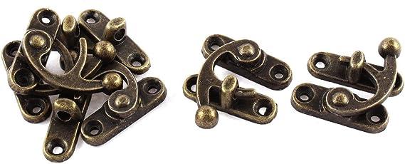 X-Dr 5pcs 33mmx29mm Antique Style Jewelry Cigar Box Hasp Hook Lock Latch (58e560cb-a222-11e9-8d7c-4cedfbbbda4e)