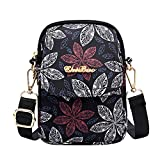 Women Small Crossbody Purse Nylon Cell Phone Bag Smartphone Wallet Shoulder Bag