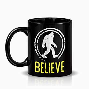 2247fe30 SAYOMEN Bigfoot Sasquatch I Believe Tshirt Bigfoot Hunter Shirt MUG  15ozFunny Coffee Mug, Feminist Mug