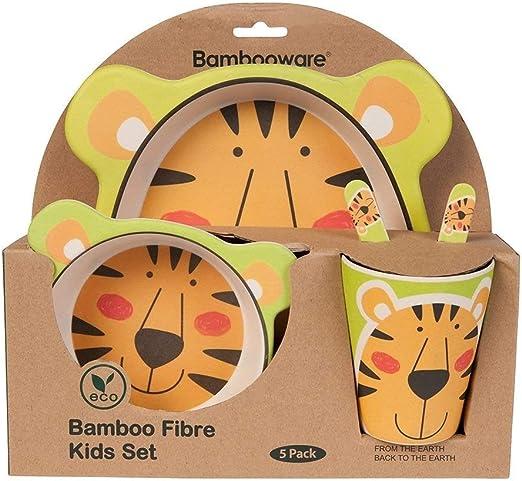 Vajilla de bambú bebé e Infantil, Material ecológico sin BPA ...