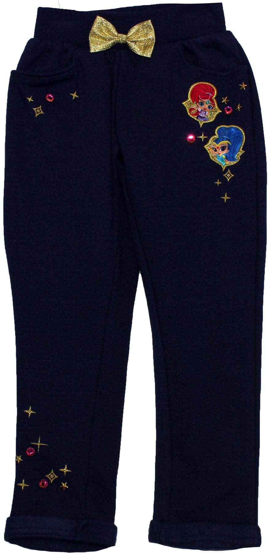 Shimmer and Shine Girls Jogging Bottom Trousers Navy 2-3 Years by Shimmer (Image #1)