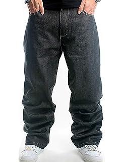 Pantaloni da Uomo Pantaloni di Jeans Moda Classica Casual Moderna Pantaloni  Larghi di Jeans Pantaloni da 5b48157aa8e8