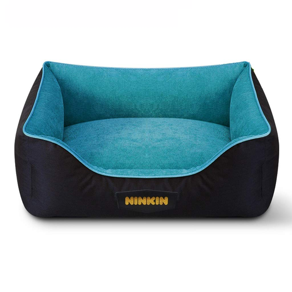 A 45×60cm A 45×60cm PLDDY pet bed Pet Mat, Large Dog Kennel Cat House Removable And Washable Nest Wear-resistant Bite Pet Bed (color   A, Size   45×60cm)