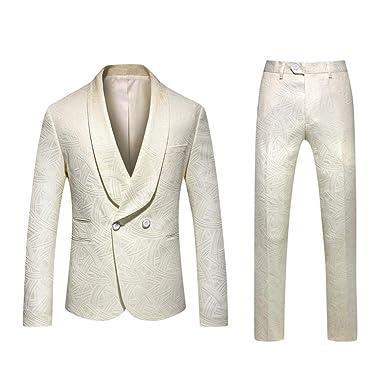 Baohooya Traje para hombre Vestir Traje Suit 2 Piezas ...