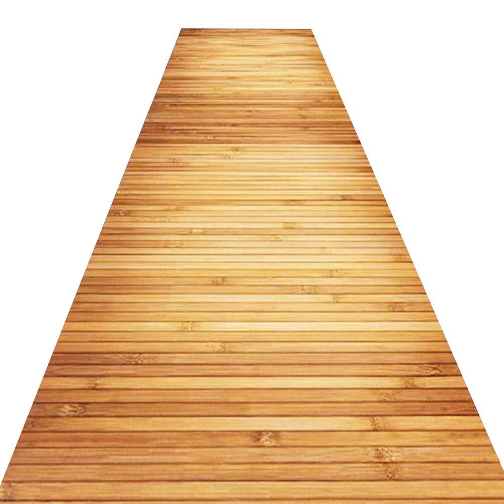 QiangDa Läufer Flur Teppich Schmale Teppichläufer Halle Lange Polyester Nicht Skid Weicher Dichter Haufen 2 Muster Multi-Größen Anpassbare (Farbe   A, größe   1 x 4m)