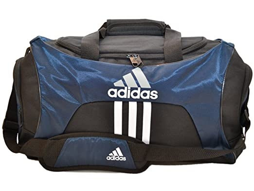 89ee5a5aa3 Amazon.com  Adidas Scorer Medium Duffle Black and Navy Blue Gym Bag  Sports    Outdoors