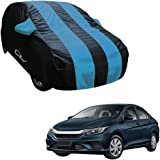 Autofurnish Aqua Stripe Car Body Cover Compatible with Honda City 2017 - Arc Blue
