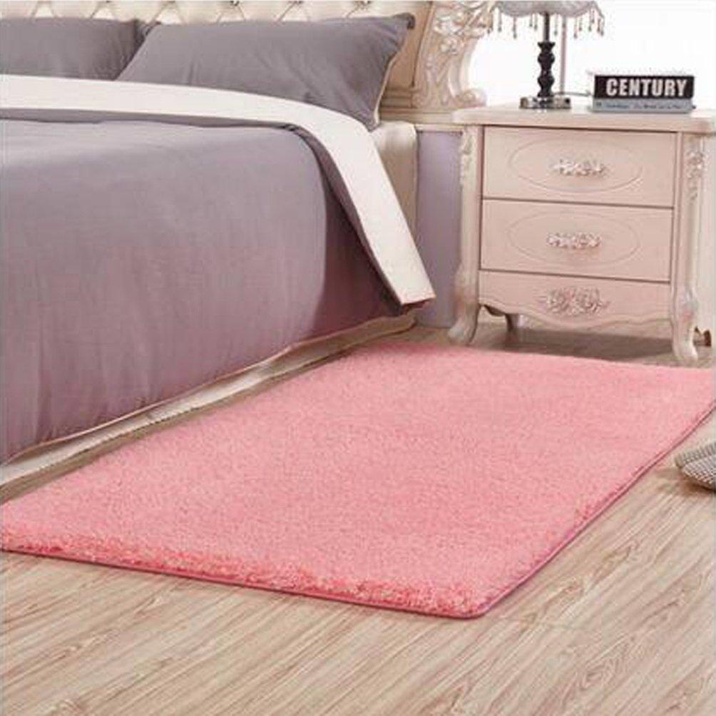 Rug WAN SAN QIAN- Children Bedroom Carpet Living Room Carpet Sofa Europe Princess Rectangle Blended Carpet Bedside (Color : A, Size : 80x160cm)