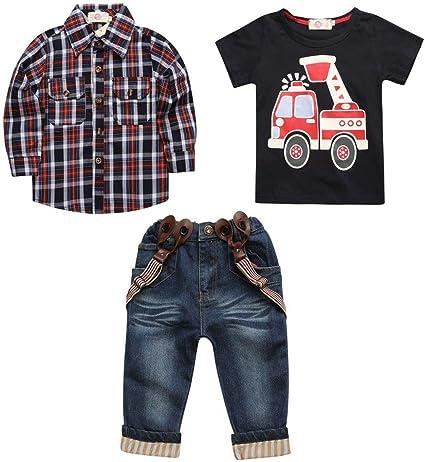 Cvbndfe Trajes de Caballero Chico Kids Boys Outfit, Camisa ...