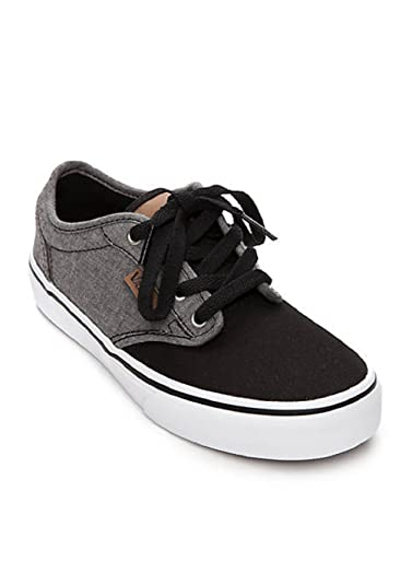 3eed530586c6 Vans Kids Atwood (Mixed) Shoe Black Gray VN0349PO1O (US 10.5)