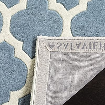 Safavieh Chatham Collection CHT734B Handmade Blue and Ivory Wool Area Rug
