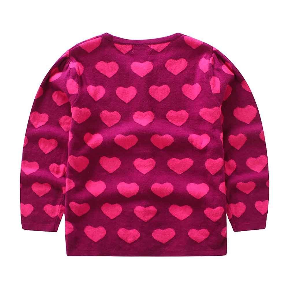 CJ Fashion Cute Knit Cardigan Sweater for Baby Girls 4-5 Years Old Hot Pink Crew Neck by CJ Fashion (Image #2)