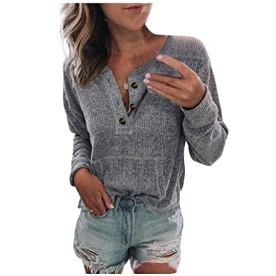 Abrigo Jerséis Encapuchado Moda Mujer Suelta botón Casual Manga Larga Blusa Camiseta Tops: Ropa y accesorios