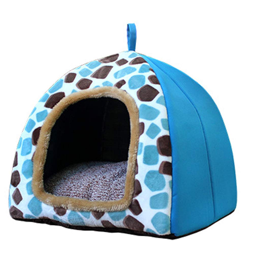 RED L RED L YONGYONG Pet Kennel Cotton Nest Cat Litter Small Medium Size Cushion Removable and Washable Cute Yurt Shape (color   RED, Size   L)