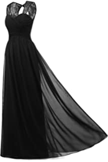 MILANO BRIDE Womens Illusion Lace Straps Long Affordable Evening Prom Dress Formal Party Gown