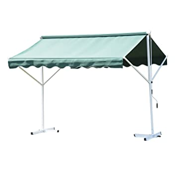 Outsunny 3 x 3m 2 Side Free Standing Manual Awning Canopy Patio