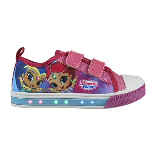 Cerdá Zapatillas con Luces Shimmer and Shine - Bambas de Lona con Luz Shimmer & Shine