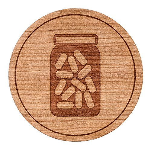 WOODEN ACCESSORIES COMPANY Wooden Refrigerator Magnets With $(t) s Engraving - 2