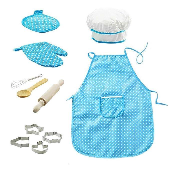 11pcs / pack chef de cocina Conjunto de niños Juegos de rol traje ...