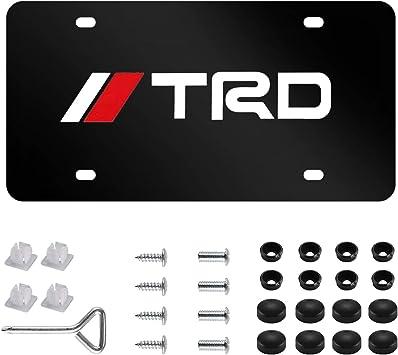 TRD Toyota Racing Development Plastic License Plate Tag Vanity Red