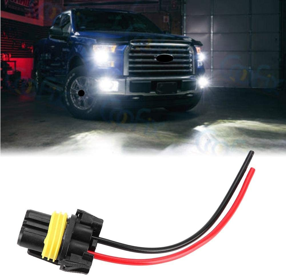 Akozon Headlight Wiring Harness Female Extension Wiring Harness Adapter for 9005//HB3 Headlights Fog Lamp