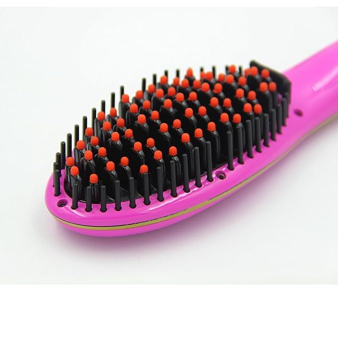Alisador de cabello, philbaby profesional cepillo para desenredar el pelo cabello estilo peine Digital Alisar Irons cepillos (rosa): Amazon.es: Salud y ...