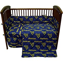 College West Virginia Mountaineers Navy Blue Crib Set