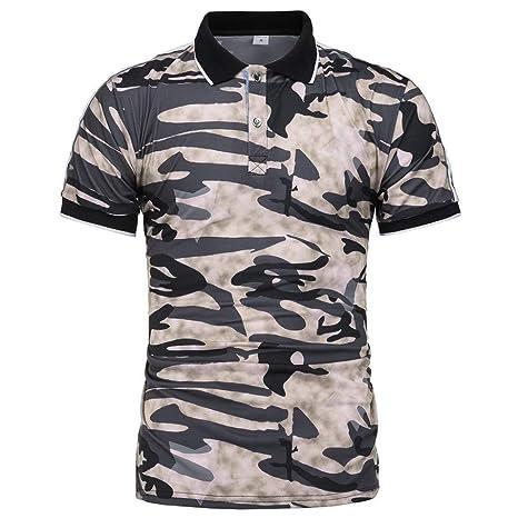 Camisa De Polo De Los Hombres,Summer Khaki Polo Shirt Hombres Ropa ...