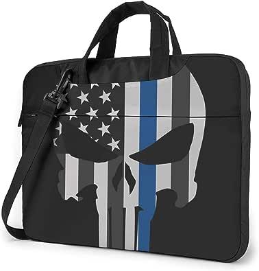 VVTBACE Thin Blue Line Punish Laptop Bag Laptop Shoulder Bag Notebook Computer Case Sleeve For Laptop Case Laptop Briefcase