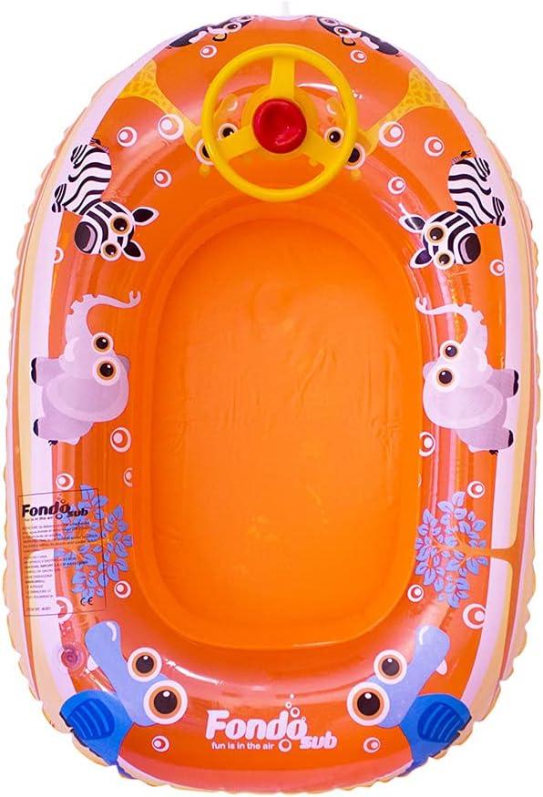 Barca Hinchable Infantil con Volante Animales 112x70 cm (46261)