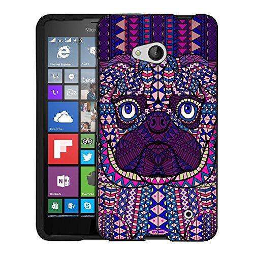 Price comparison product image Microsoft Lumia 640 Case,  Snap On Cover by Trek Aztec Pug Head Purple Case