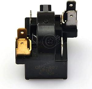 Universal Energy Saving 6 Pins 4.7 ohm QP2-4R7 Refrigerator Compressor PTC Start Relay Motor Starter For Haier Midea Whirlpool Combi Fagor RoyalStar FRESTECH Hisense etc. (QP2-4R7_6Pin)