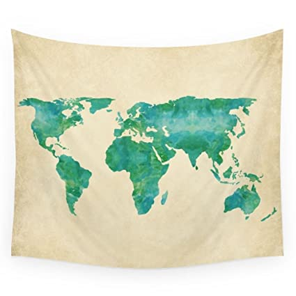 Amazon society6 watercolor world map wall tapestry small 51 x society6 watercolor world map wall tapestry small 51quot gumiabroncs Images
