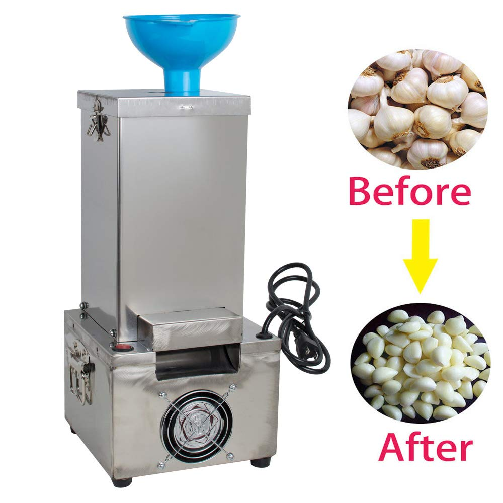 Genmine Garlic Peeling Machine Commercial Electric Stainless Steel Silicone Garlic Peeler Stripper Machine 110V for Home & Restaurant 44lb/h (Shipping From USA) by genmine