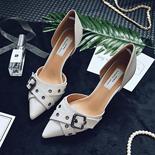 High Pointed Gray Shoes Feminine 34 Toe Feet Heels Toe Heelpointed Stiletto Dream Sandals Sexy Color Bare Fashion Size C5z11xZ