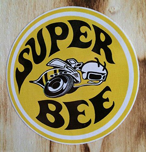 2pcs SUPER BEE OLDSCHOOL hot rod Rat piss Round Bumper Sticker Decal (4 - School Snowboard Old Helmet