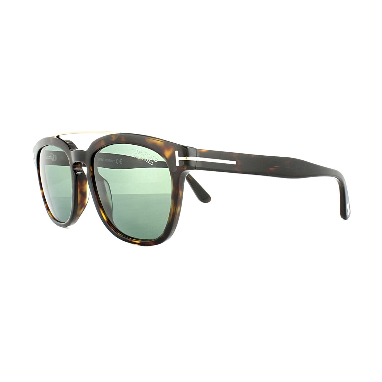 67091b18e0f10 Tom Ford Sunglasses 0516 Holt 52R Dark Havana Green Polarized at Amazon  Men s Clothing store