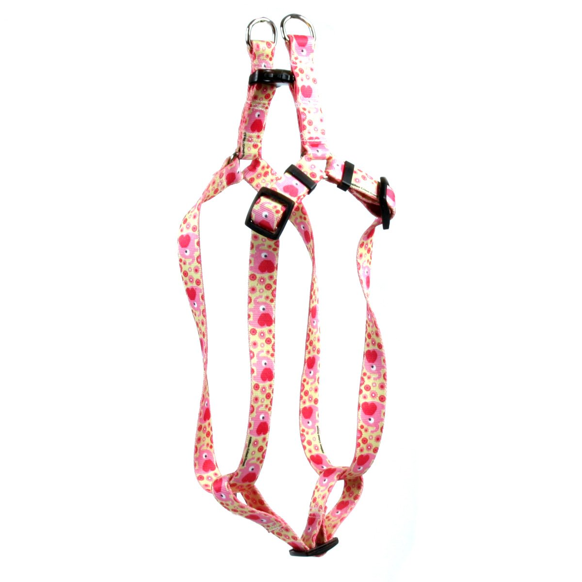 Yellow Dog Design Pink Elephants Step-in Dog Harness, Medium-3/4 Wide and fits Chest of 15 to 25'' by Yellow Dog Design