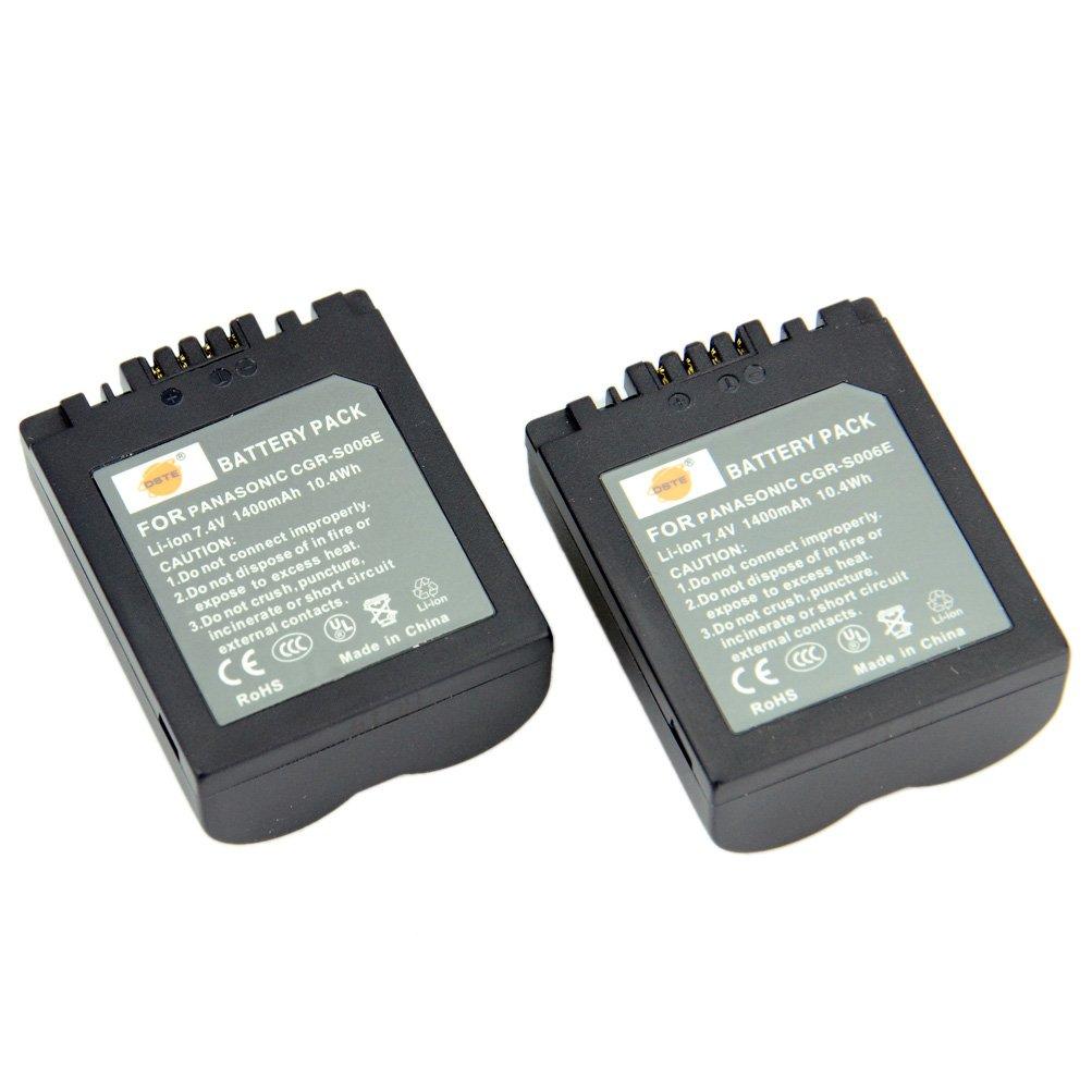 DSTE 2-Pacco Ricambio Batteria per Panasonic CGR-S006E Lumix DMC-FZ30 DMC-FZ50 DMC-FZ28 DMC-FZ18 DMC-FZ8 DMC-FZ38 DMC-FZ35 DMC-FZ7 LEICA V-LUX1 DST Electron Technological Co. Ltd DAPA13A2
