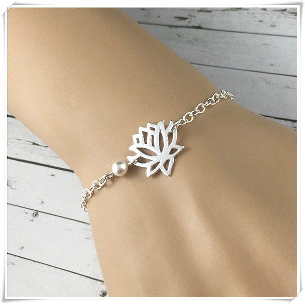 Lotus Bracelet, bijoux en argent sterling Fleur de Lotus, fleur de lotus Bracelet, Dainty Bijoux, Lotus, cadeau, Elf House L007
