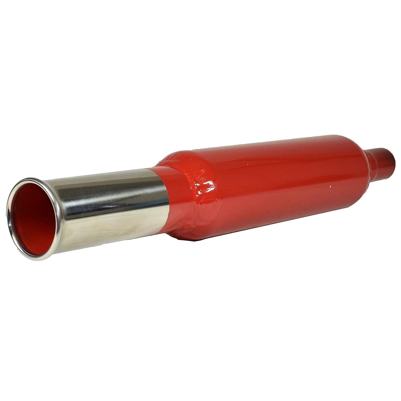 Cherry Bomb universale bomba di coda coda cromato tubo tondo di estremità della tubazione di scarico indietro AB Tools
