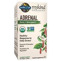 Garden of Life mykind Organics Adrenal Daily Balance 120 Tablets-Healthy Stress...