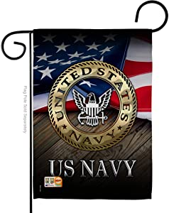 "Angeleno Heritage G135035-BO US Navy Americana Military Decorative Vertical Garden Flag, 13""x 18.5"", Multi-Color"