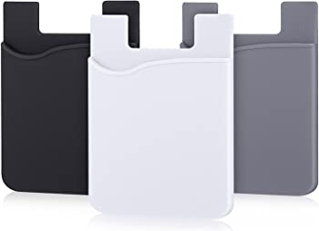 AgentWhiteUSA Cell Phone Wallet for cards and cash Grey:Black:White