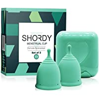 Shordy Menstrual Cup, Set of 2 with Mini BOX, Period Cup Made with Medical Grade Silicone, Hygienic and Safe, Better…