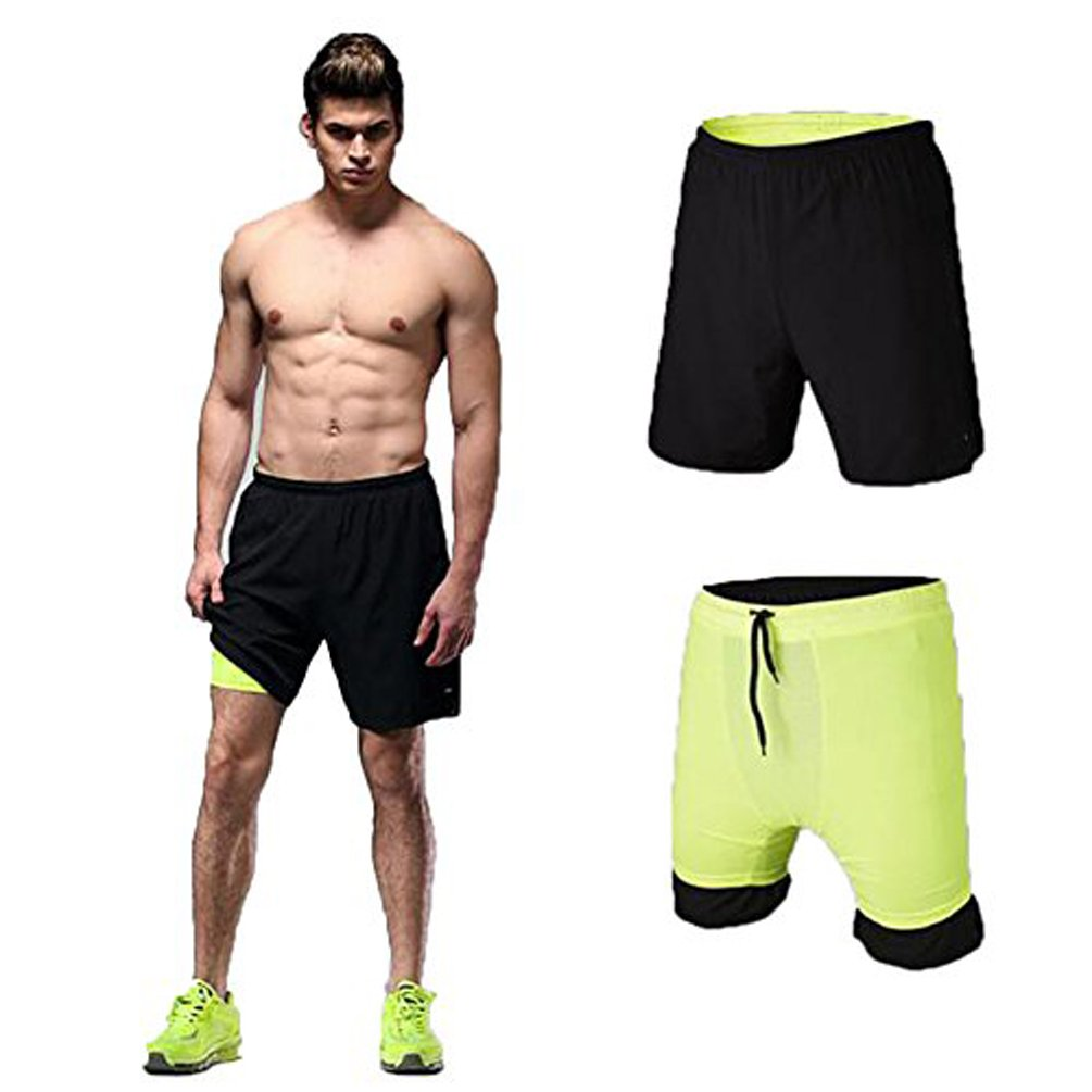 Fanceey Mens 2 In 1 Running Workout Fitness Shorts 7 2-in-1 Training Shorts Vansydical