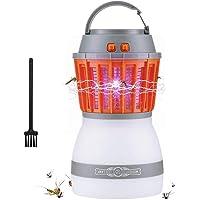 AUSHEN Anti moustiques Electrique Recharge Lampe LED portative 2 en 1 moustiques Lampe Zapper Mosquito imperméable Tueur de moustiques Anti moustiques Exterieur[2018 Nouvelle Version]