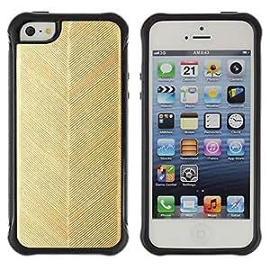 Suave TPU GEL Carcasa Funda Silicona Blando Estuche Caso de protección (para) Apple Iphone 5 / 5S / CECELL Phone case / / Gold Chevron Pattern Feather Wallpaper /