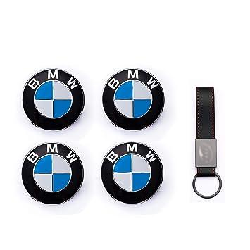 Set 4X Tapacubos 68mm para BMW Serie 1 2 3 4 X1 X3 X4 X5 E30 ...