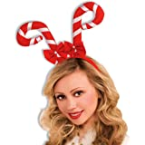 Forum Novelties Candy Cane Headband, Red and White